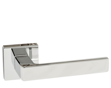 Atlantic 'Asti' Forme Designer Lever On Square Minimal Rose, Polished Chrome - FMS254PC (sold in pairs)