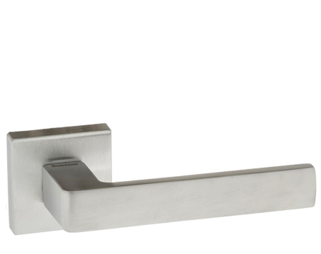 Atlantic 'Asti' Forme Designer Lever On Square Minimal Rose, Satin Chrome - FMS254SC (sold in pairs)