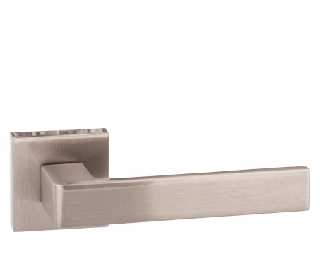 Atlantic 'Asti' Forme Designer Lever On Square Minimal Rose, Satin Nickel - FMS254SN (sold in pairs)