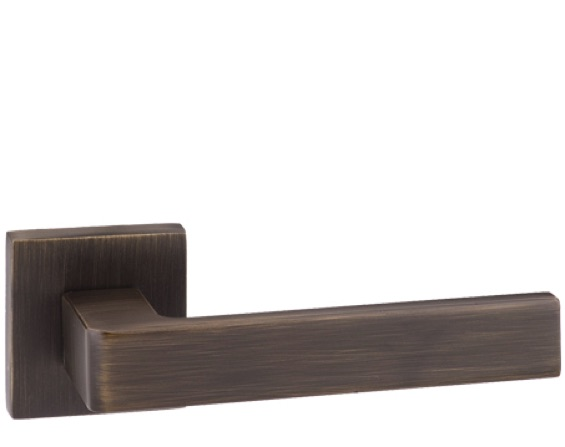 Atlantic 'Asti' Forme Designer Lever On Round Minimal Rose, Urban Bronze - FMS254UB (sold in pairs)