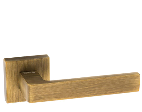 Atlantic 'Asti' Forme Designer Lever On Square Minimal Rose, Yester Bronze - FMS254YB (sold in pairs)
