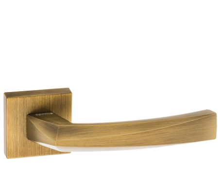 Atlantic 'Crystal' Forme Designer Lever On Square Minimal Rose, Yester Bronze - FMS268YB (sold in pairs)