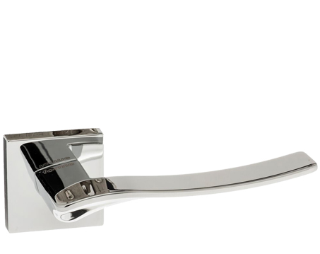 Atlantic 'Olimpia' Forme Designer Lever On Square Minimal Rose, Polished Chrome - FMS280PC (sold in pairs)