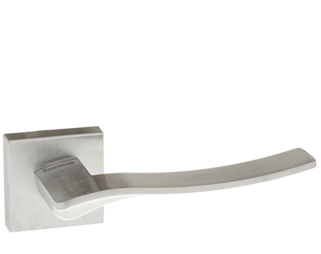 Atlantic 'Olimpia' Forme Designer Lever On Square Minimal Rose, Satin Chrome - FMS280SC (sold in pairs)
