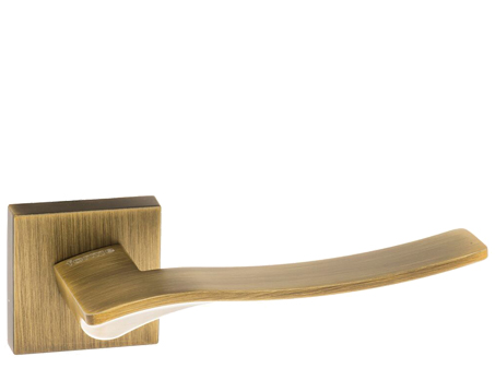 Atlantic 'Olimpia' Forme Designer Lever On Square Minimal Rose, Yester Bronze - FMS280YB (sold in pairs)