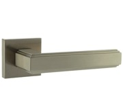 Atlantic Alila Forme Art Deco Designer Lever On Square Minimal Rose, Satin Nickel - FMS293SN (sold in pairs)