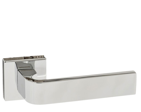 Atlantic 'Monza' Forme Designer Lever On Square Minimal Rose, Polished Chrome - FMS413CP (sold in pairs)