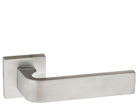 Atlantic 'Monza' Forme Designer Lever On Square Minimal Rose, Satin Chrome - FMS413SC (sold in pairs)