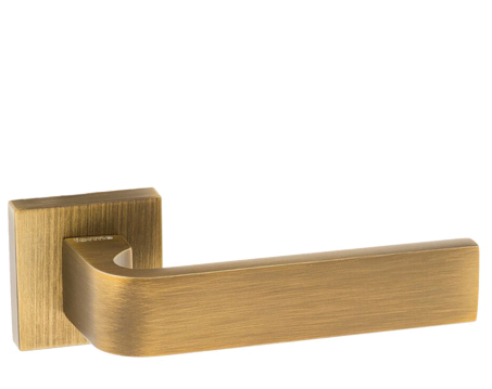 Atlantic 'Monza' Forme Designer Lever On Square Minimal Rose, Yester Bronze - FMS413YB (sold in pairs)
