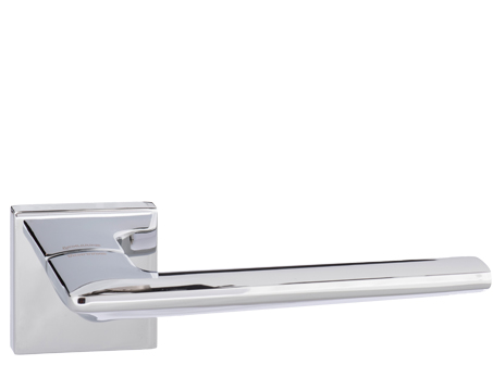 Atlantic 'Boston' Forme Designer Lever On Square Minimal Rose, Polished Chrome - FMS422PC (sold in pairs)