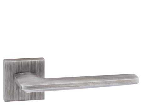 Atlantic 'Boston' Forme Designer Lever On Square Minimal Rose, Urban Graphite - FMS422UG (sold in pairs)