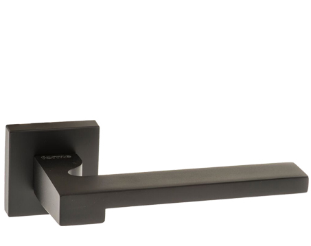 Atlantic 'Ginevra' Forme Designer Lever On Square Minimal Rose, Matt Black - FMS430MB (sold in pairs)