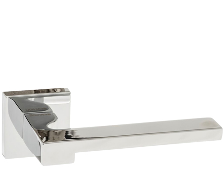 Atlantic 'Ginevra' Forme Designer Lever On Square Minimal Rose, Polished Chrome - FMS430PC (sold in pairs)