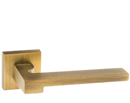 Atlantic 'Ginevra' Forme Designer Lever On Square Minimal Rose, Yester Bronze - FMS430YB (sold in pairs)