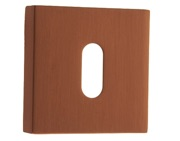 Atlantic Forme Standard Profile Escutcheon On Minimal Square Rose, Urban Satin Copper - FMSKUSC (Sold In Singles)