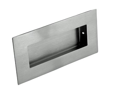 Bon Eurospec Stainless Steel Rectangular Flush Pulls, 102mm, Polished Or Satin  (Matt) Finish
