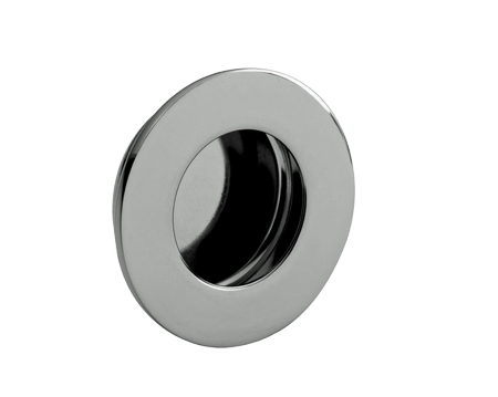 flush door pulls. eurospec stainless steel circular flush pulls, 80mm dia, polished or satin (matt) door pulls