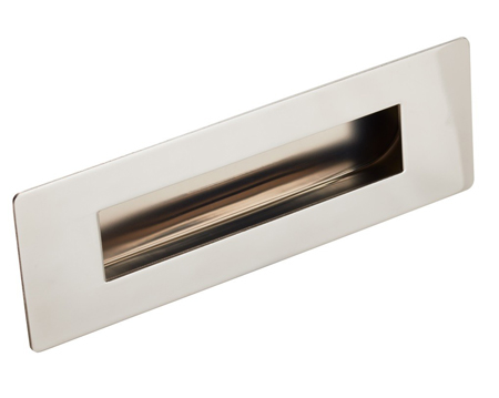 Eurospec Steelworx Stainless Steel Rectangular Flush Pulls, 180mm, Polished Or Satin (Matt) Finish - FPH1180