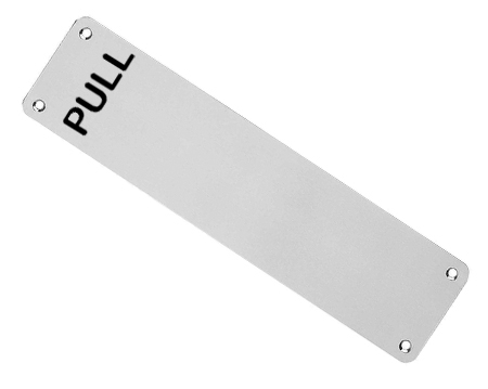 Eurospec Pull Stainless Steel Finger Plates, Satin Finish (Multiple Sizes) - FPP131