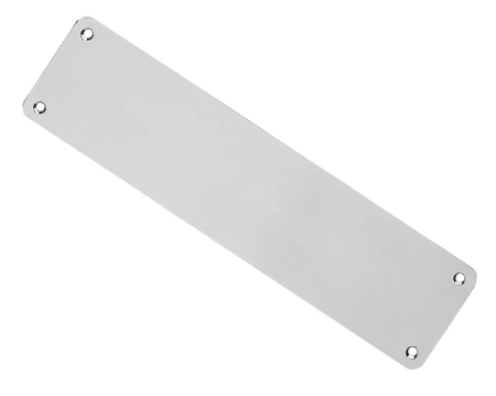 Eurospec Plain Stainless Steel Finger Plates, Polished Or Satin Finish (Multiple Sizes) - FPP13