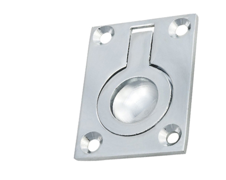 Carlisle Brass Flush Pull Rings (50mm x 38mm Or 63mm x 50mm), Polished Chrome - FRP50CP