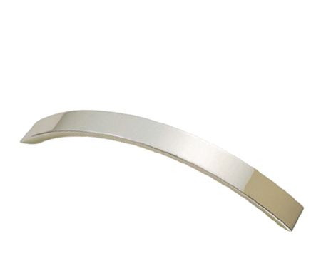 Fingertip Curved Convexed Cabinet Pull Handle (128mm C/C), Satin Nickel - FTD270ASN