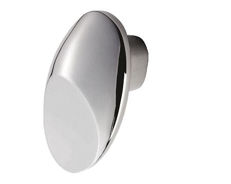 Fingertip Crescent Cupboard Knobs (33mm X 22mm), Polished Chrome   FTD4030