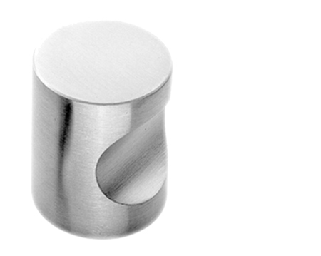Fingertip Polished Or Satin Stainless Steel Cylindrical Cupboard Knobs  (16mm, 20mm, 25mm Or