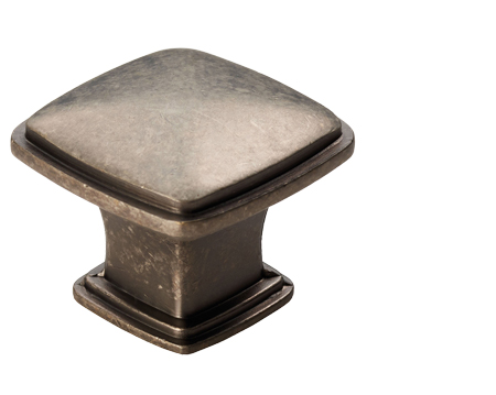Carlisle Brass Fingertip Arcadian Cupboard Knob (30mm X 30mm), Pewter  Effect OR Antique