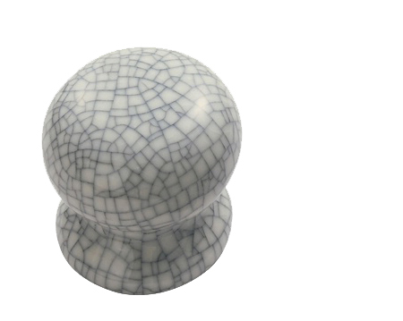 Delamain Midnight Crackle Glaze Porcelain Door Knobs, Polished ...