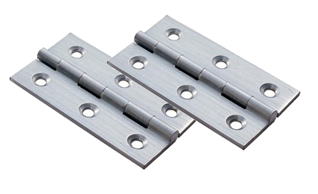 Fingertip Small Cabinet Hinges (Various Sizes), Polished Chrome ...