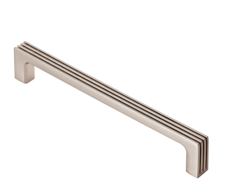 Cebi 'Darini' Cabinet Pull Handle (160mm C/C), Satin Nickel - FTD927CSN
