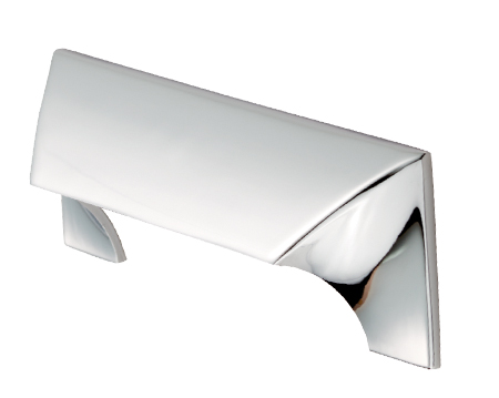Carlisle Brass Fingertip Cebi Capori Cabinet Pull Handle (96mm, 192mm Or 320mm C/C), Polished Chrome - FTD935CP