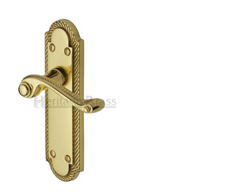 Heritage Brass Gainsborough Polished Brass Door Handles - G010-PB (sold in pairs)