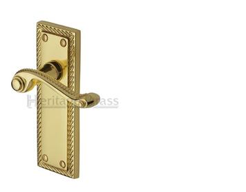 Heritage Brass U0027Georgianu0027 Polished Brass Door Handles   G040 PB (sold In