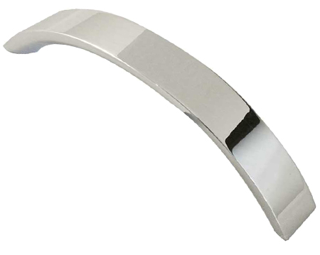 Jedo Collection 'Arco' Cabinet Pull Handle (96mm OR 128mm c/c), Polished Chrome - GA100PC