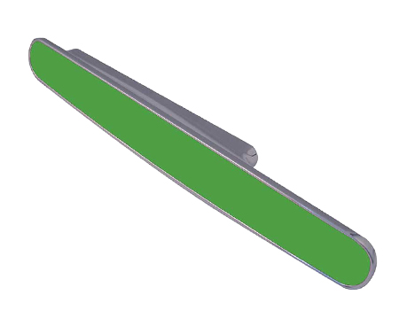 Jedo Collection Chameleon 1 Cabinet Pull Handles (96mm C/C), Bright Green - GA402PC