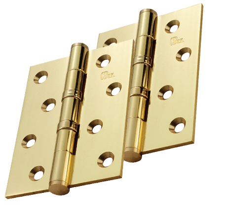 Carlisle Brass 4 Inch Solid Brass Ball Bearing Hinges, Polished Brass    HDBB1 (sold