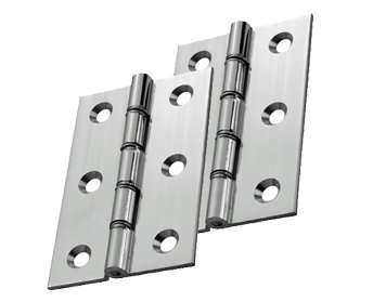 Carlisle Brass 3 Inch Double Washered Hinges, Polished Chrome - HDSW1CP (sold in pairs)