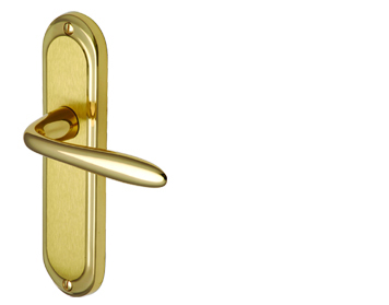 Heritage Brass 'Henley' Mayfair Finish, Polished Brass & Satin Brass Door Handles - HEN1200-MF (sold in pairs)