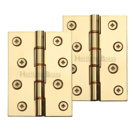 3inch Polishe Brass Internal /& External Door Butt Hinges for Heavy Doors 4inch