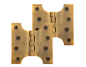 Heritage Brass 4 Inch Parliament Hinges, Antique Brass - HG99-385-AT (sold in pairs)
