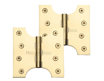 Heritage Brass 4 Inch Parliament Hinges, Polished Brass - HG99-385-PB (sold in pairs)