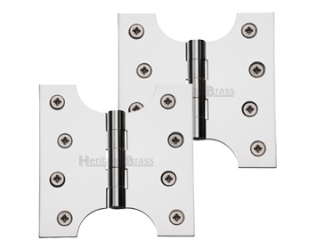 Heritage Brass 4 Inch Parliament Hinges, Polished Chrome - HG99-385-PC (sold in pairs)