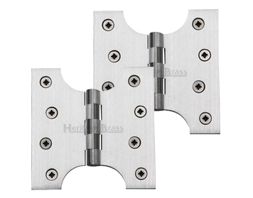 Heritage Brass 4 Inch Parliament Hinges, Satin Chrome - HG99-385-SC (sold in pairs)