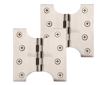 Heritage Brass 4 Inch Parliament Hinges, Satin Nickel - HG99-385-SN (sold in pairs)