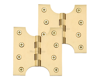 Heritage Brass 4 Inch Parliament Hinges, Satin Brass - HG99-385-SB (sold in pairs)