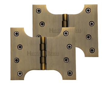 Heritage Brass 5 Inch Parliament Hinges, Antique Brass - HG99-390-AT (sold in pairs)