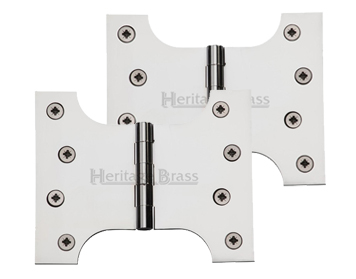Heritage Brass 5 Inch Parliament Hinges, Polished Chrome - HG99-390-PC (sold in pairs)