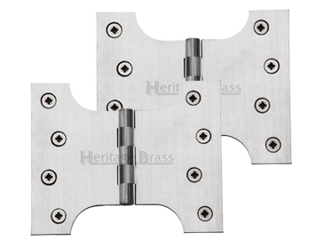 Heritage Brass 5 Inch Parliament Hinges, Satin Chrome - HG99-390-SC (sold in pairs)